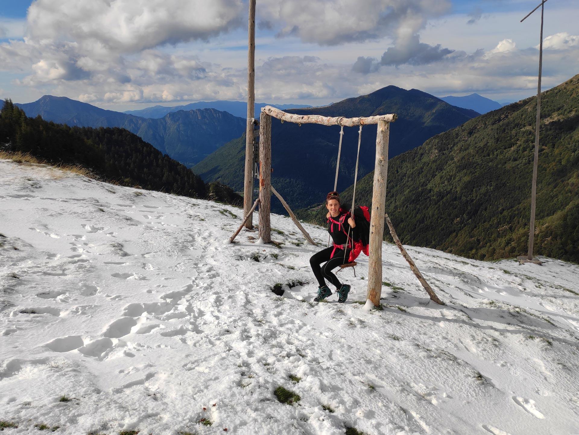 Veduta sulle montagne dall'Alpe Deleguaccio, Valsassina, Lombardia