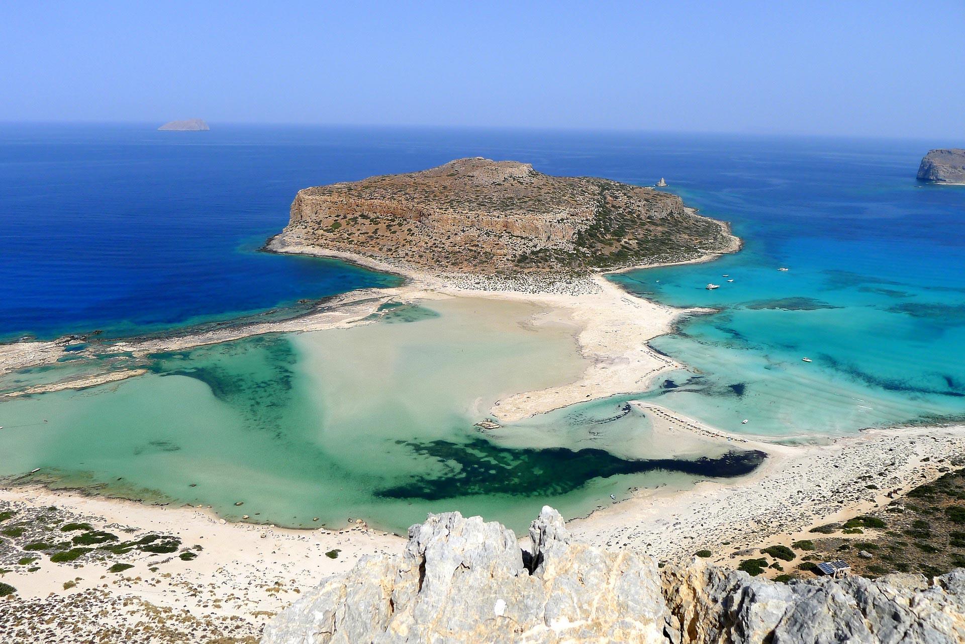 veduta della laguna di Balos, Creta, Grecia