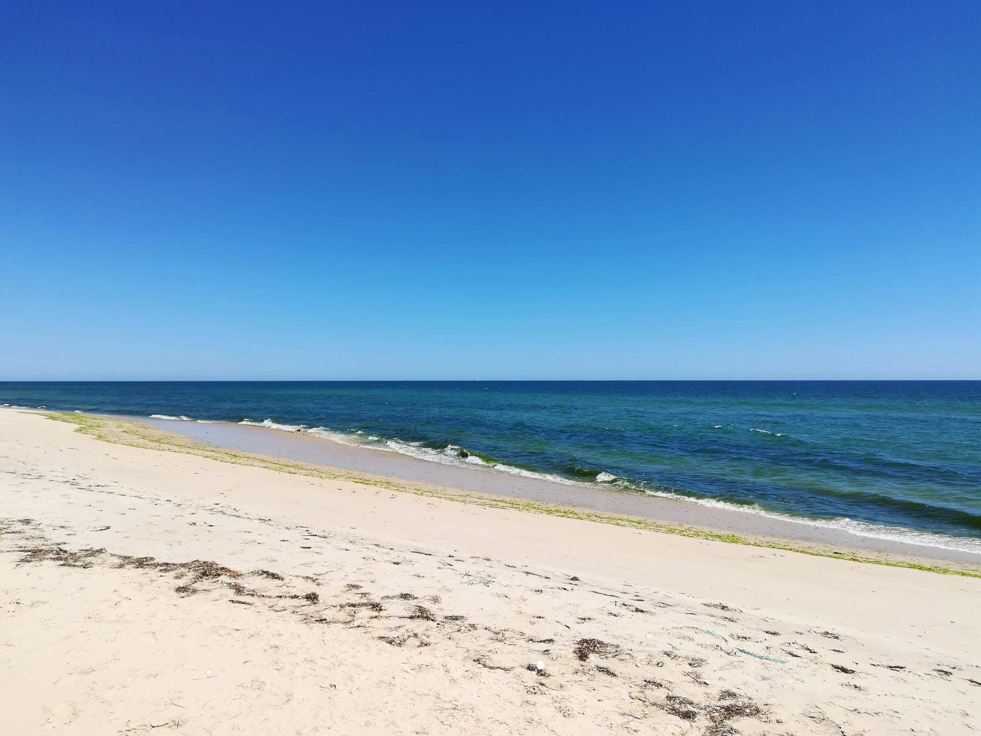 Veduta di Praia do Barril, Faro, Algarve, Portogallo
