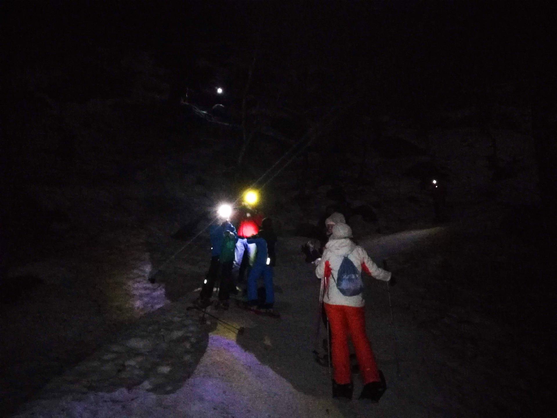 ciaspolata notturna al Rifugio Pastore