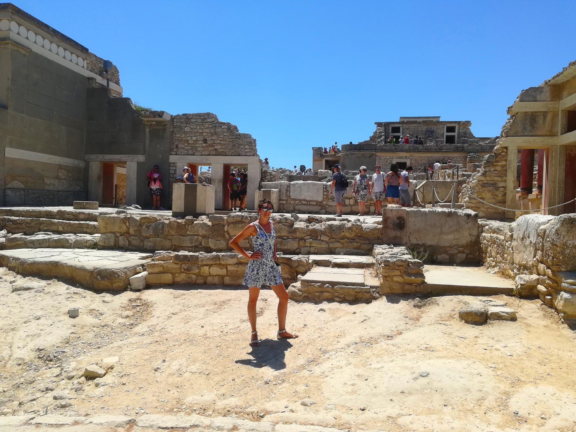 l'area archeologica adiacente al Palazzo di Cnosso, Creta, Grecia
