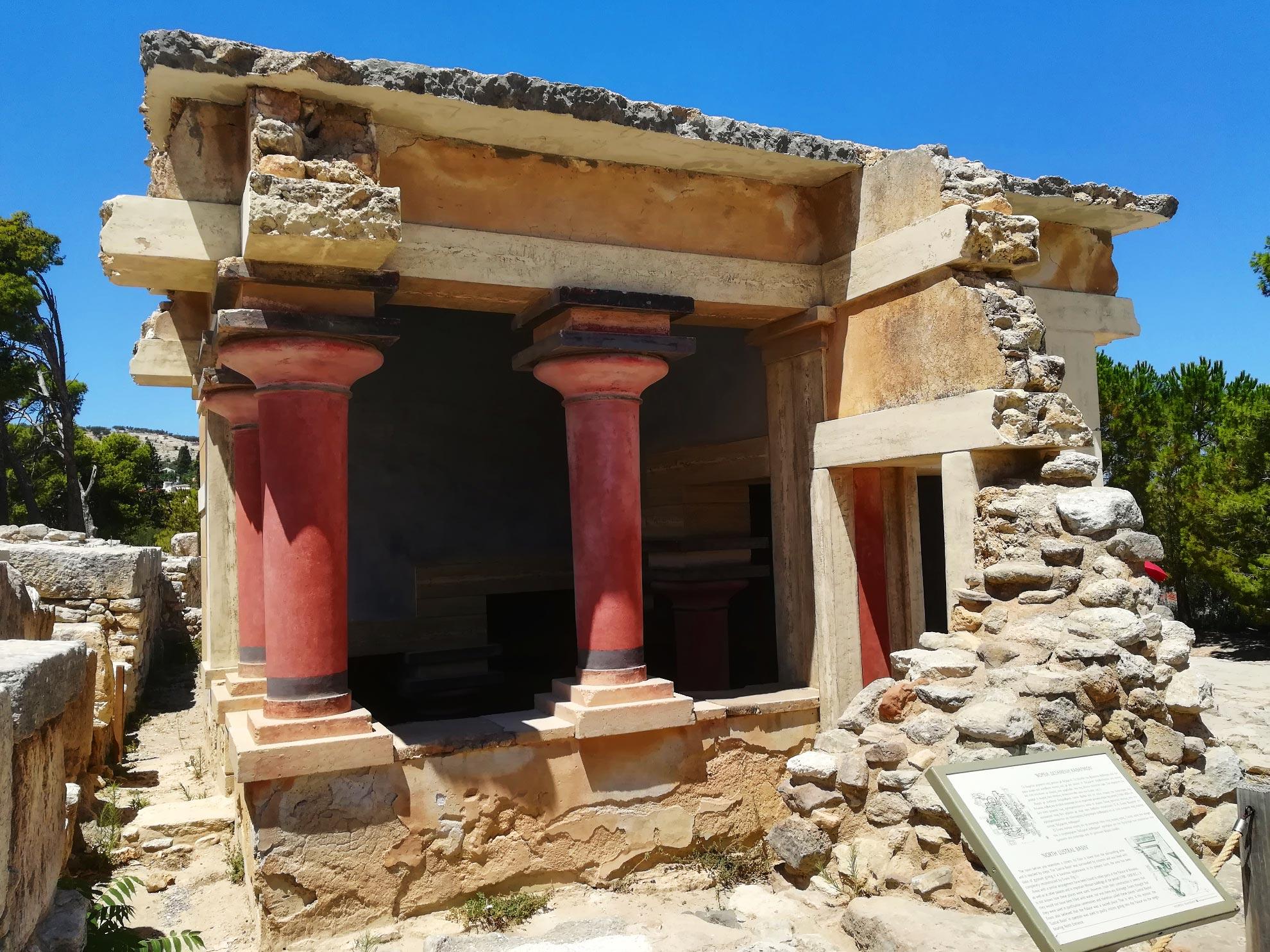 rovine dell'antico Palazzo di Cnosso, Creta, Grecia