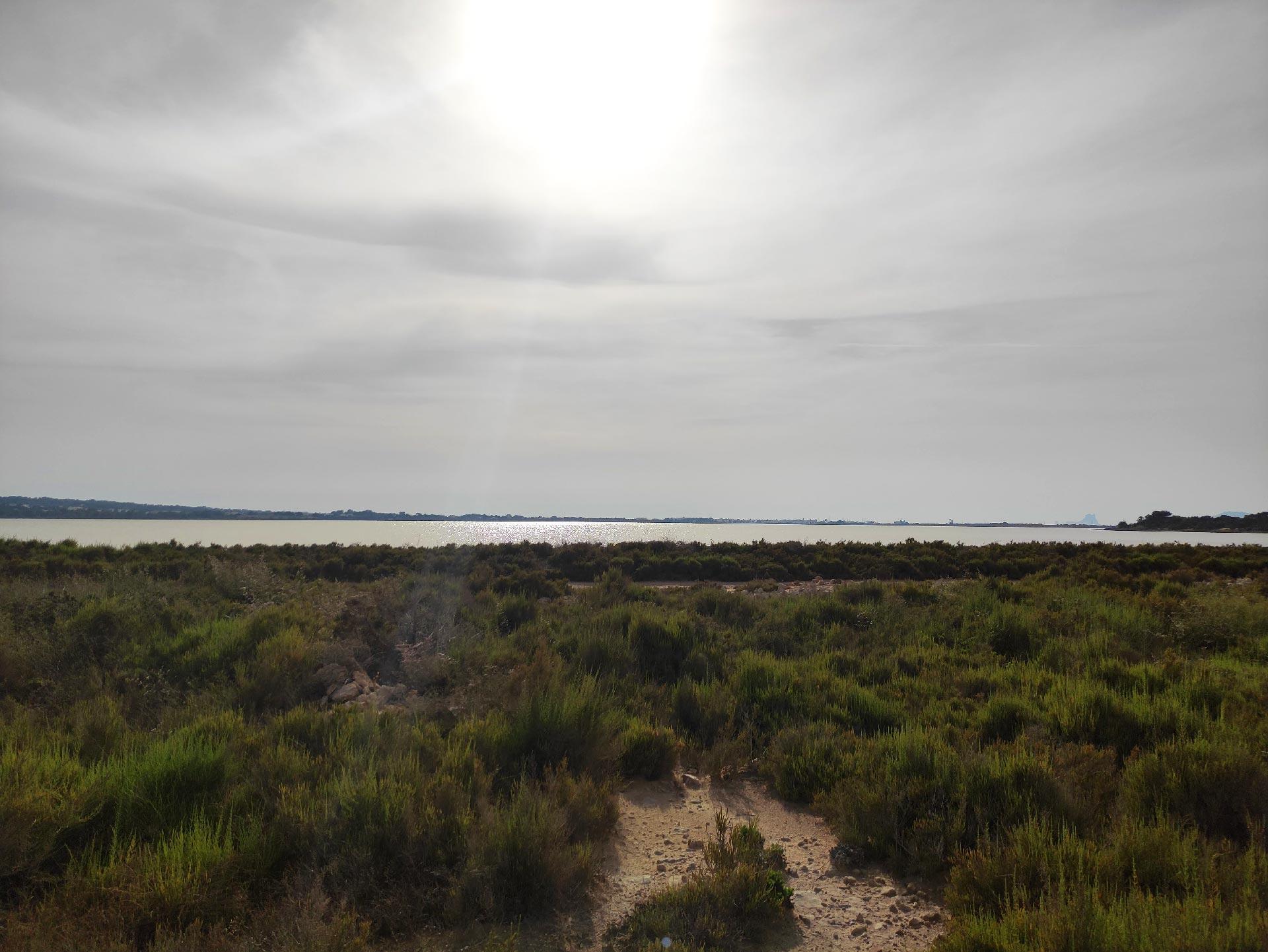 Il bacino salato Estany Pudent, Formentera