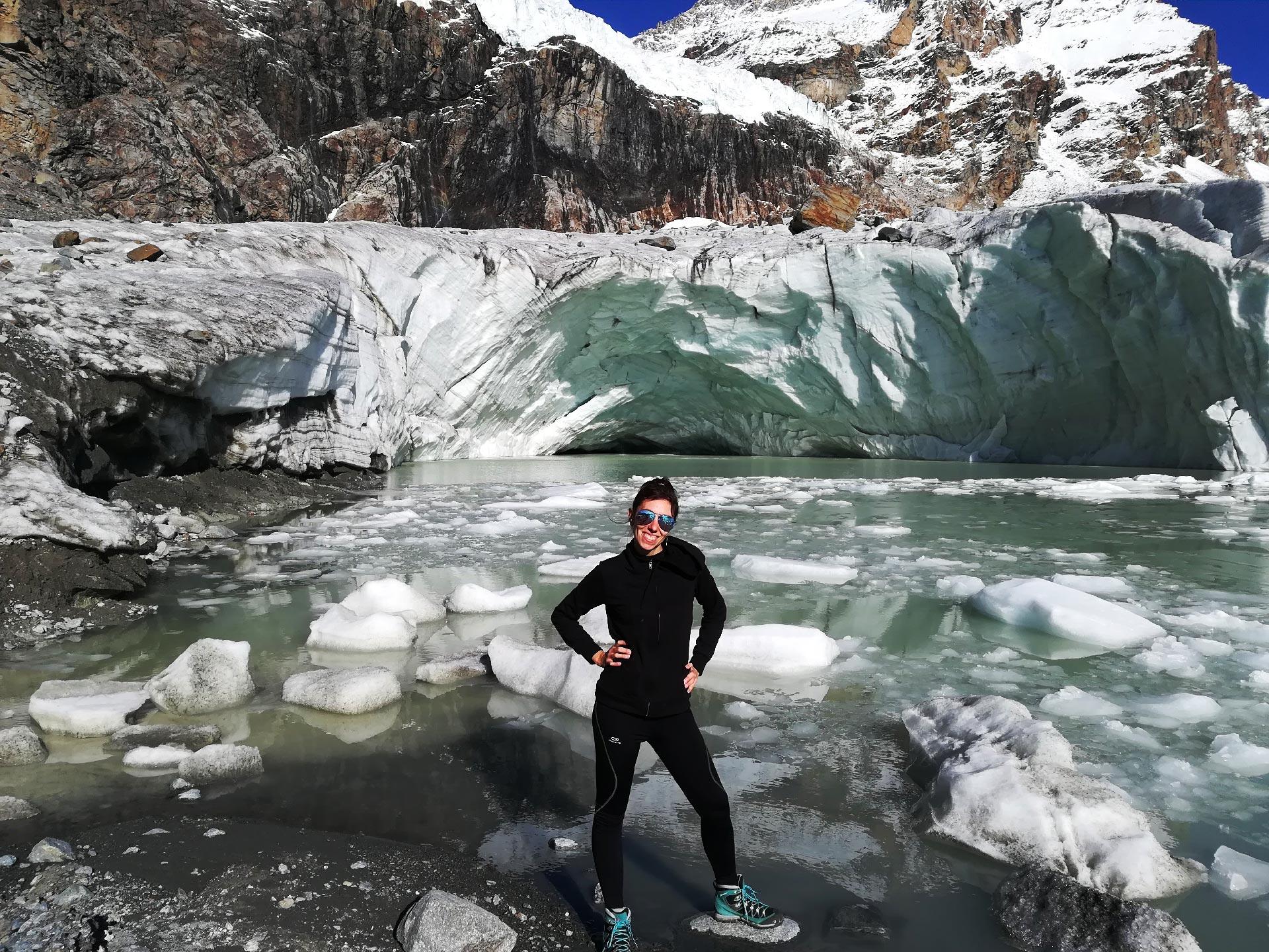 il ghiacciaio fellaria in valmalenco, Lombardia