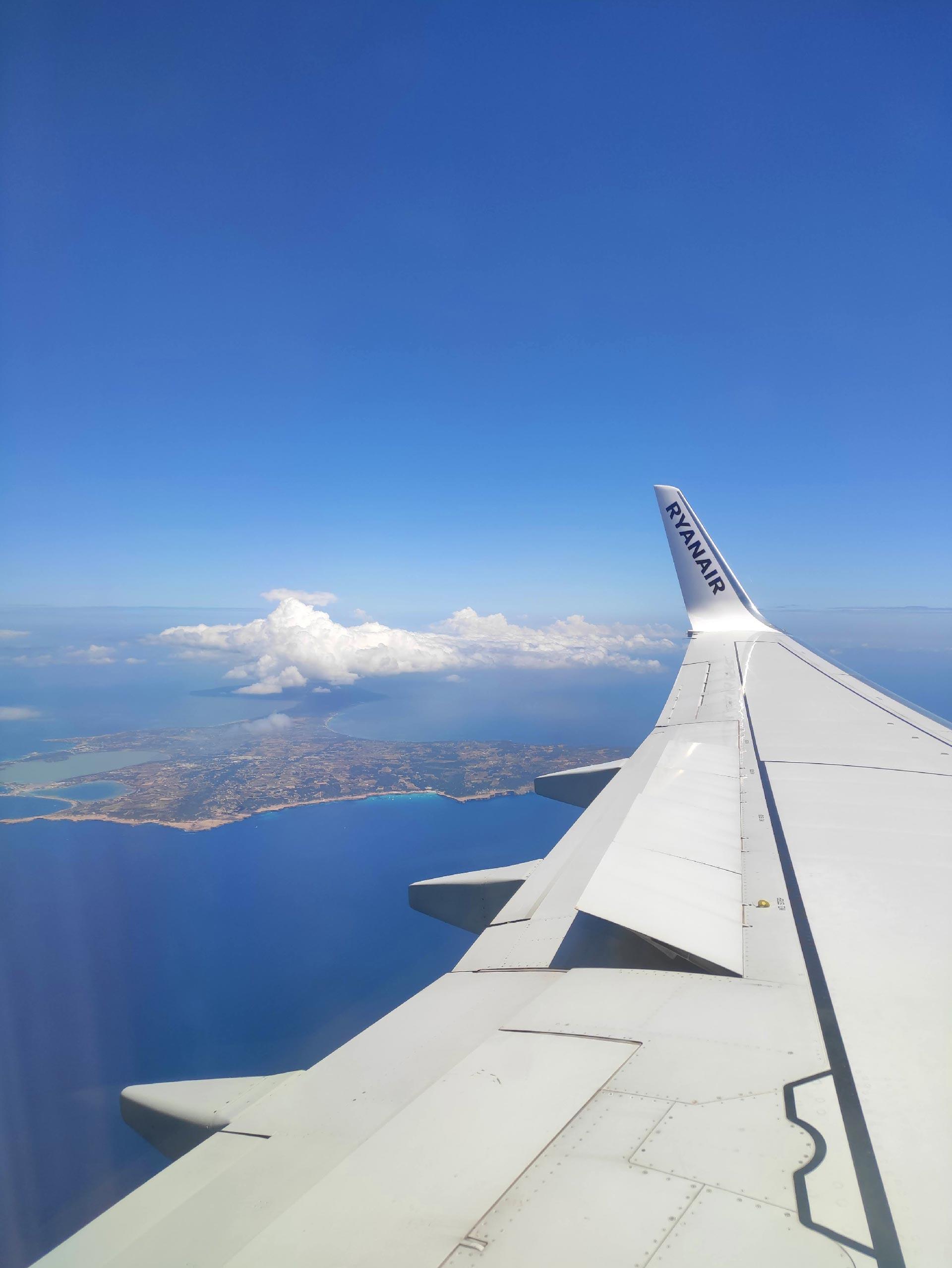 Veduta di Formentera dall'aereo