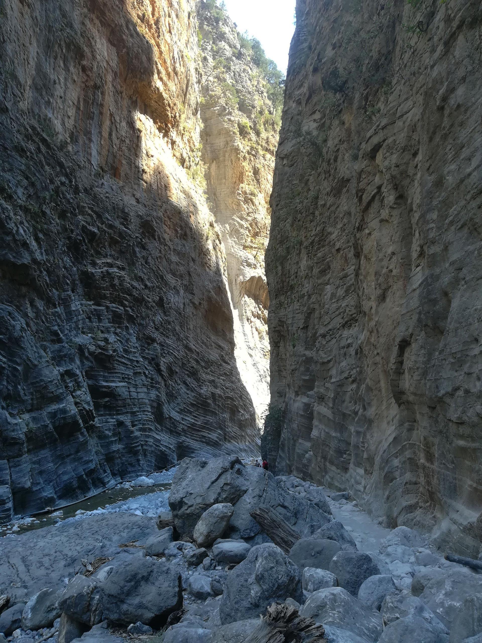 il canyon delle Gole di Samaria, Creta, Grecia