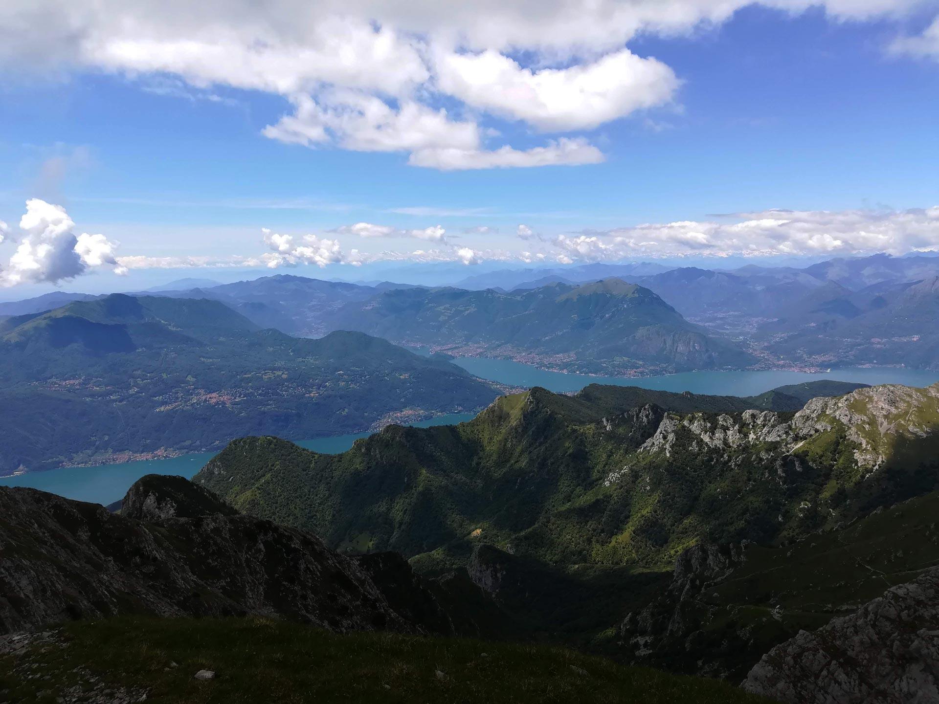 verso il Rifugio Brioschi: vista sul lago di Como, Lecco, Lombardia