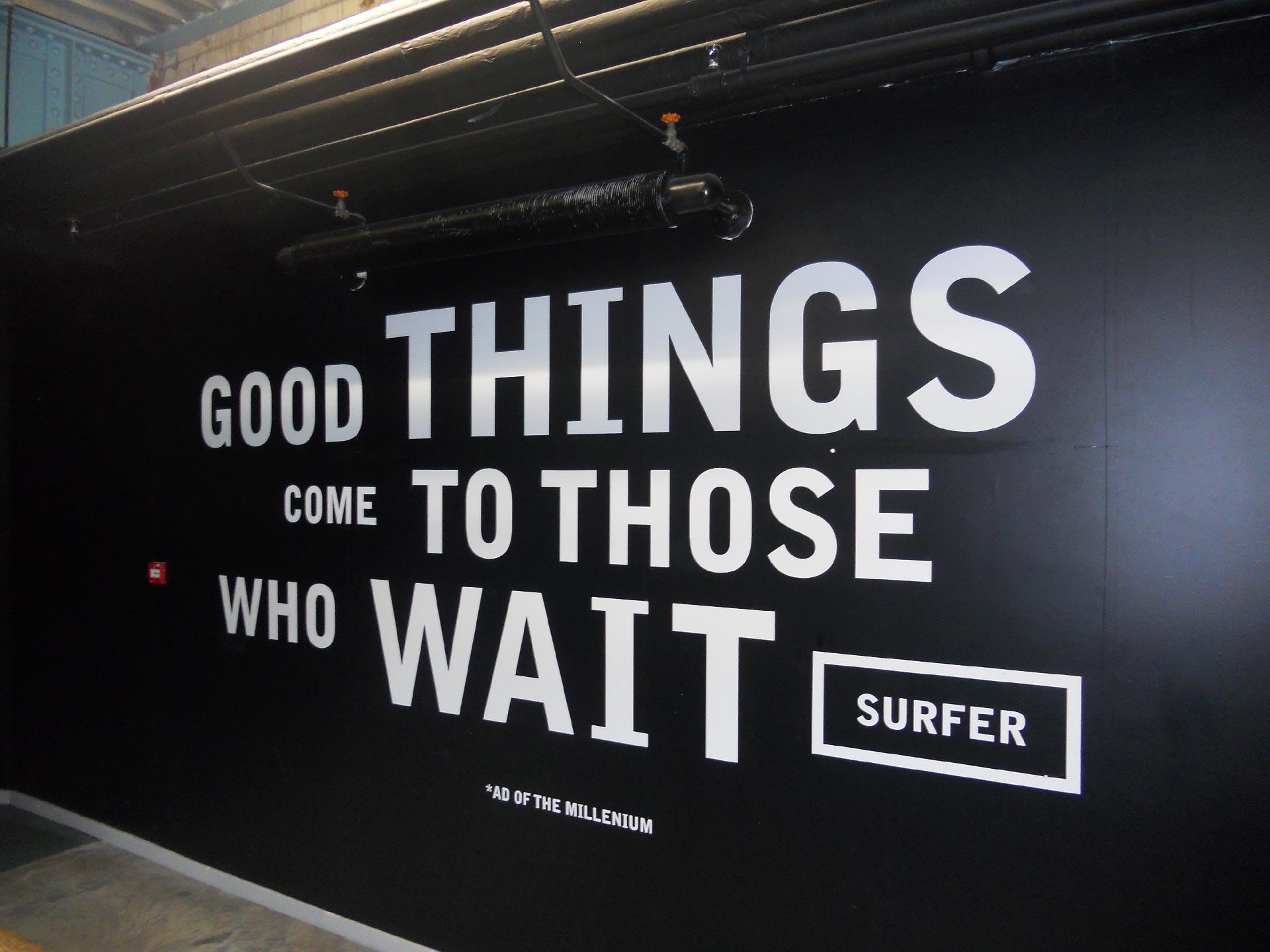 Uno degli slogan pubblicitari all'interno del Guinness Storehouse