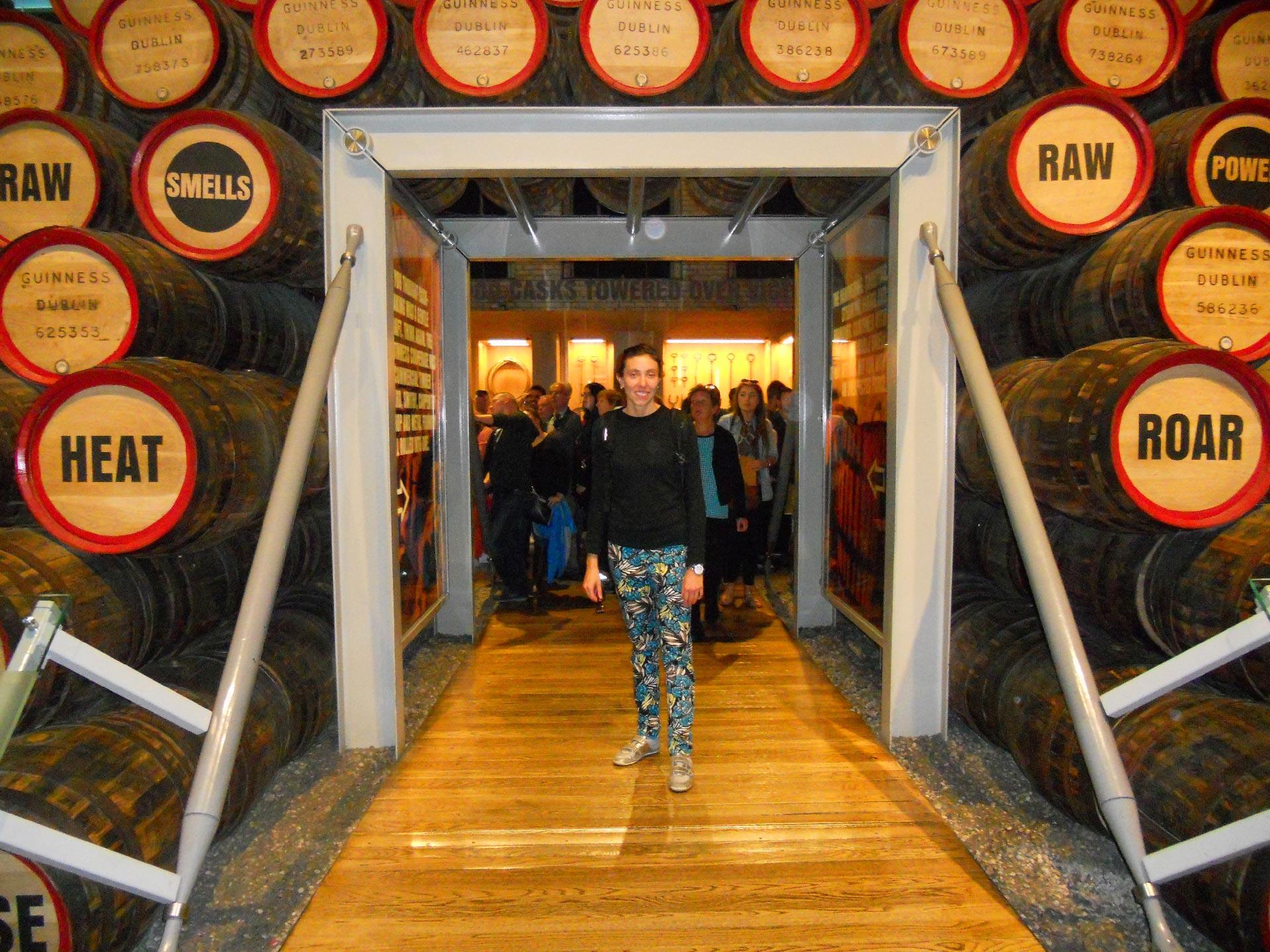 Gli interni della Guinness Storehouse