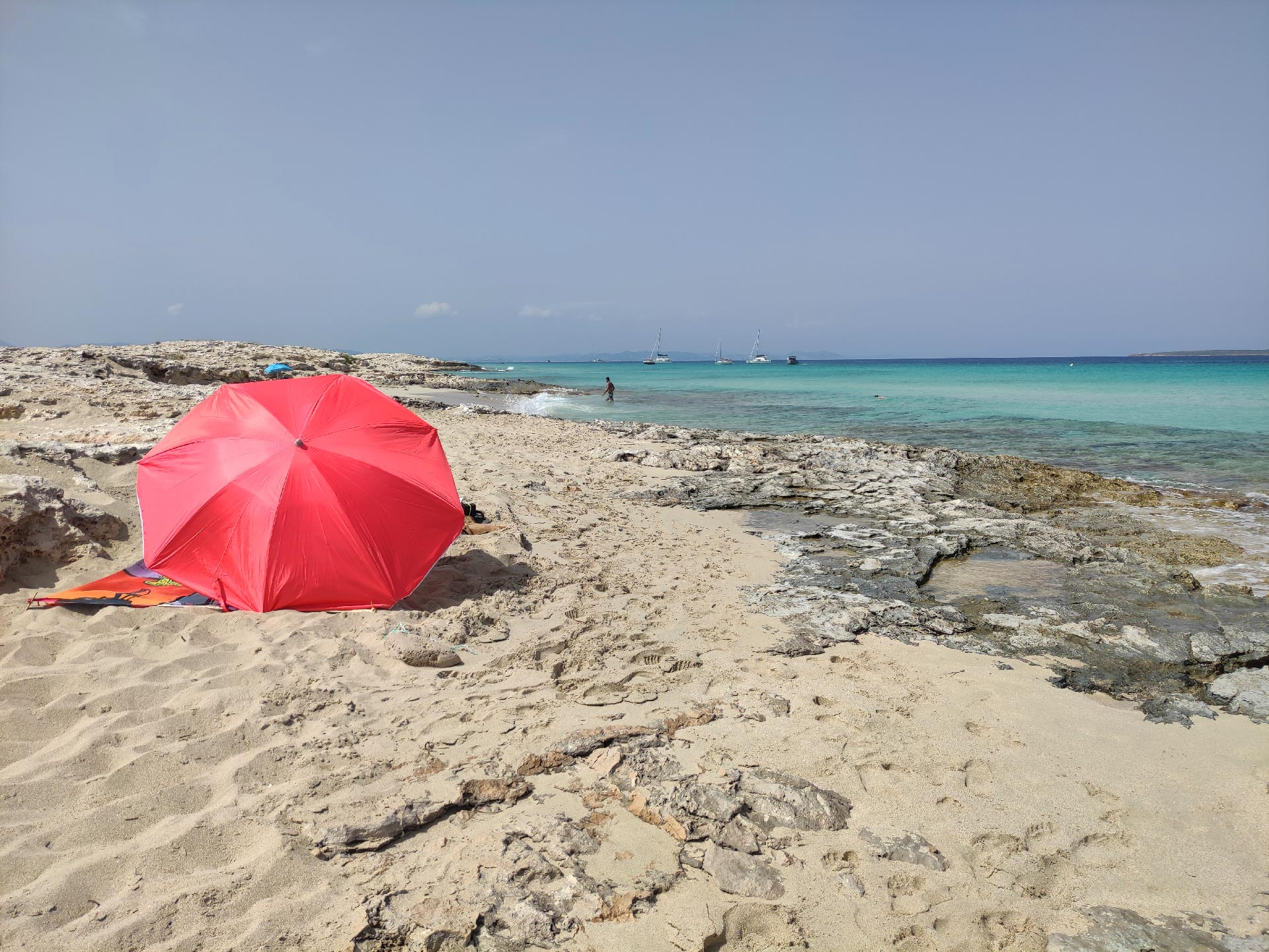 Uno scorcio della spiaggia di Ses Illetes