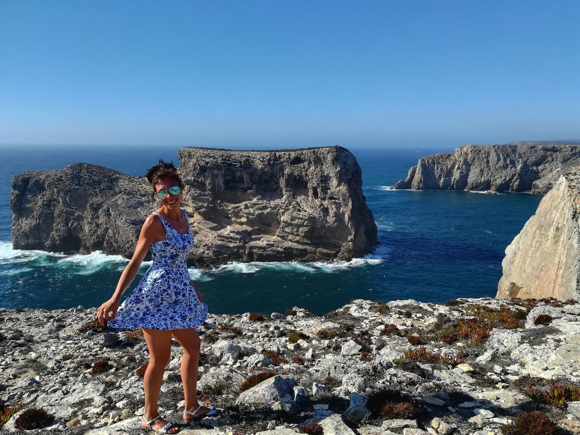 veduta della scogliera Portoghese di Cabo de Sao Vicente