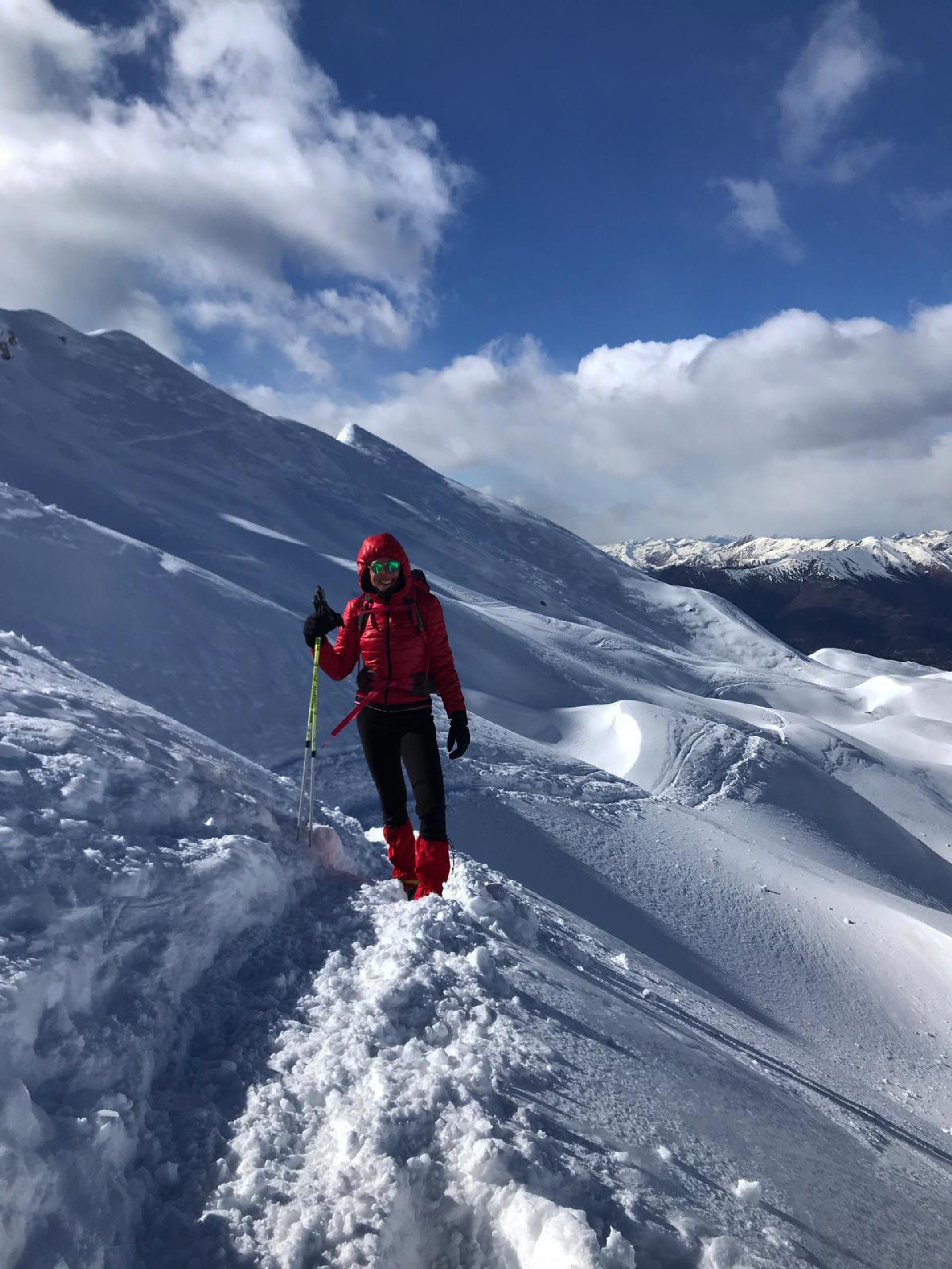 verso il rifugio Brioschi, salita invernale con neve, Valsassina, Lombardia