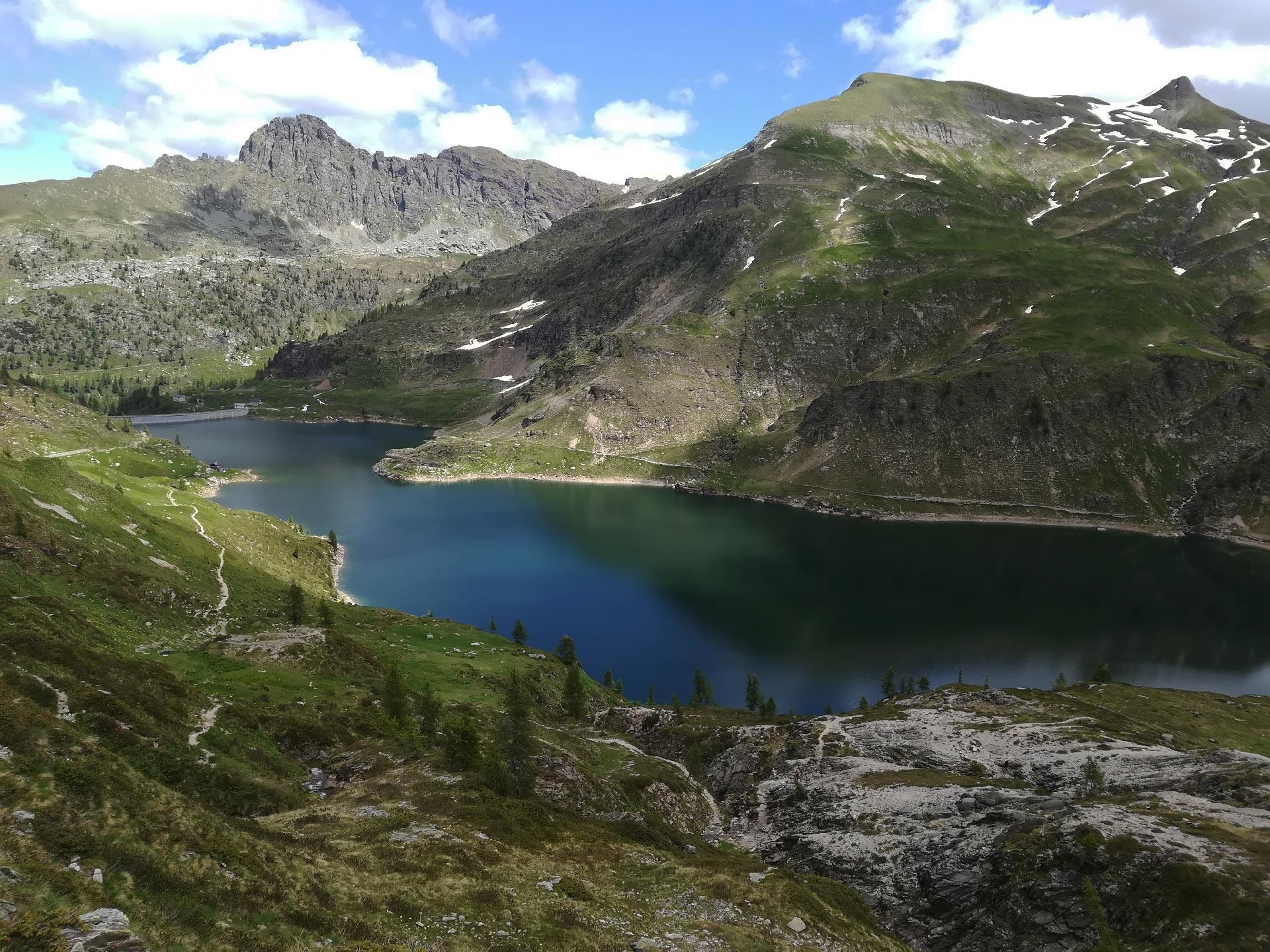 veduta dei Laghi Gemelli, Val Brembana, Lombardia