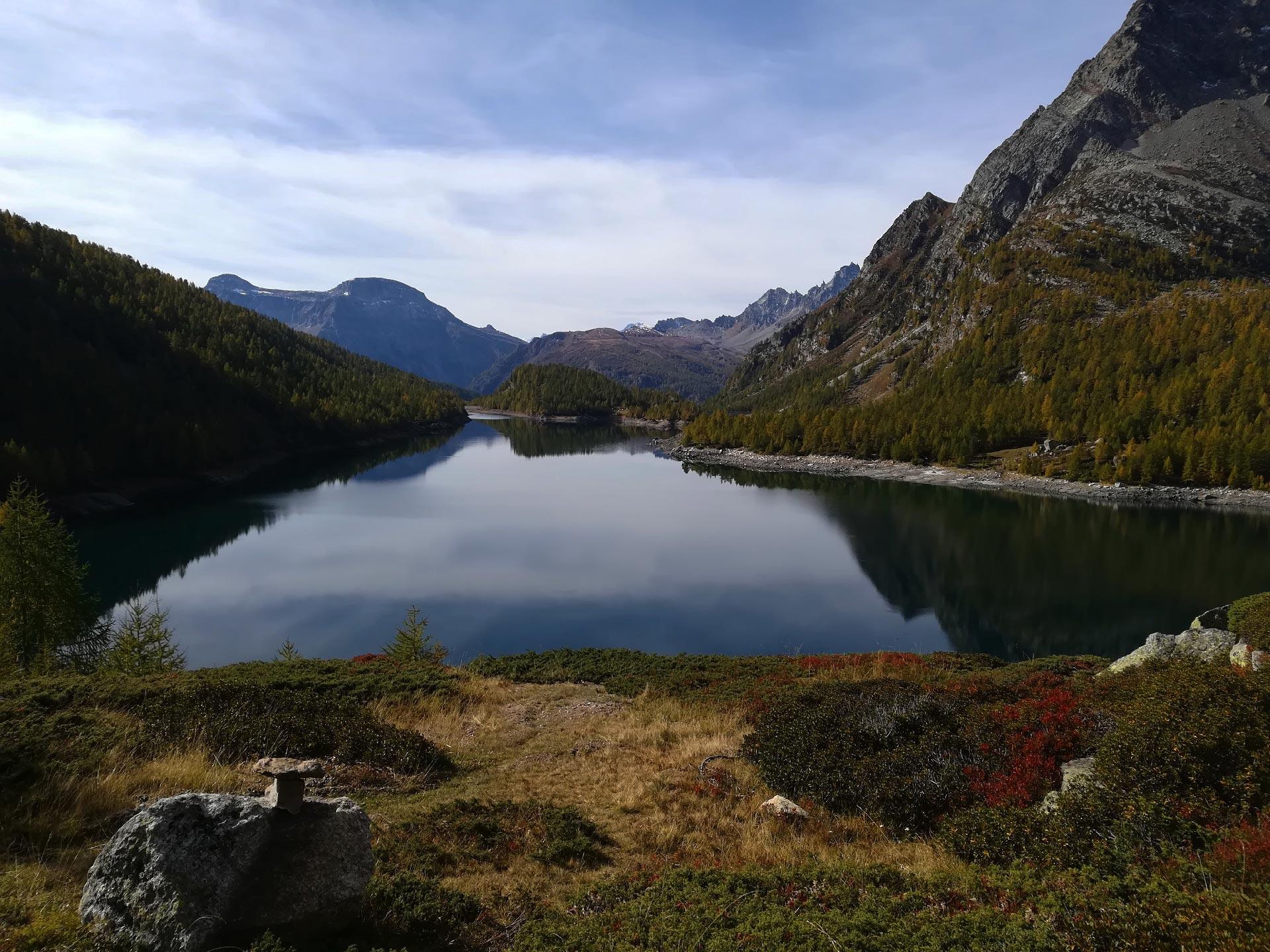 panorama sul lago Devero, Verbania, Piemonte