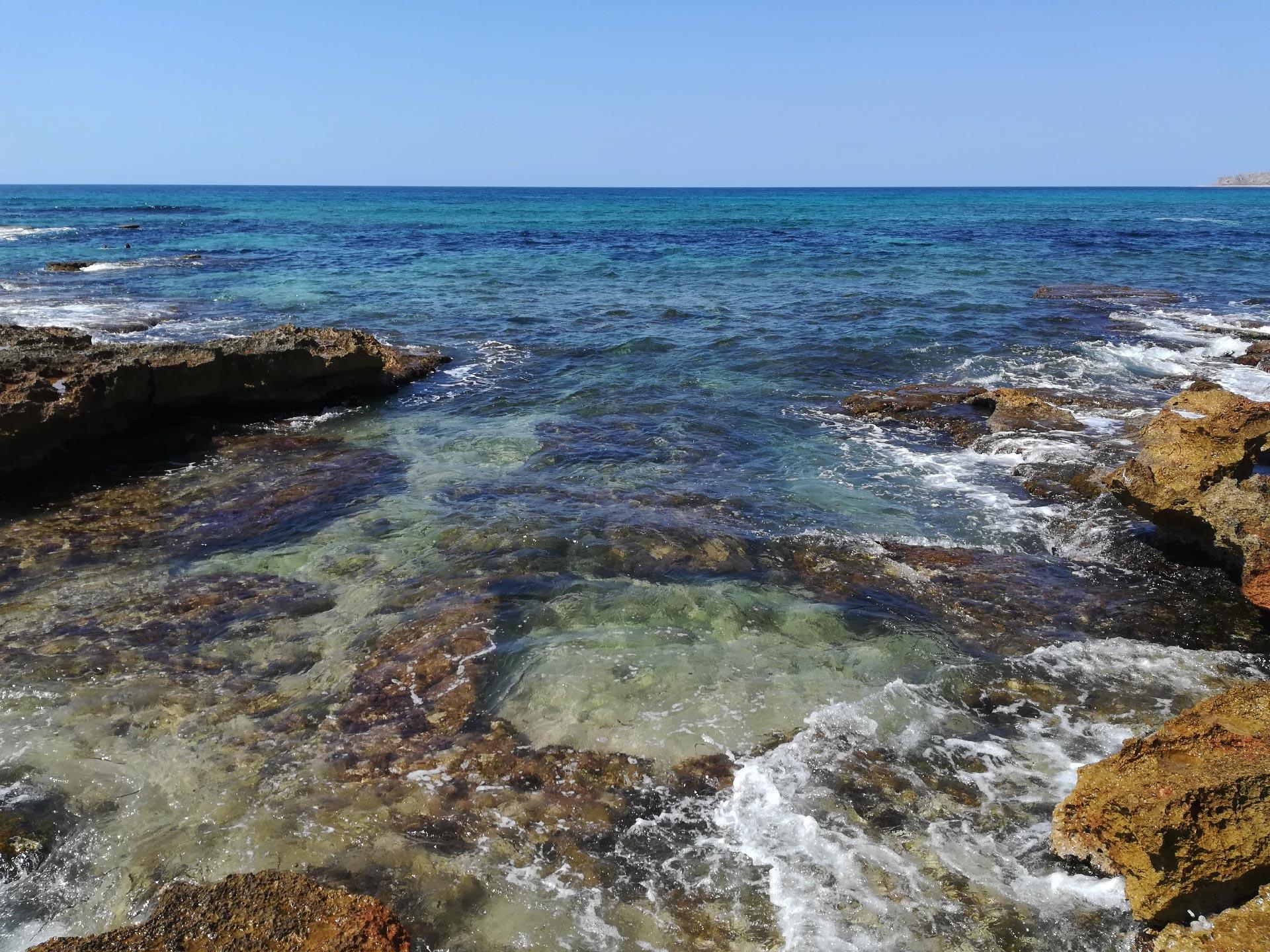 baia di Santa Margherita, scogli e mare, Trapani, Sicilia