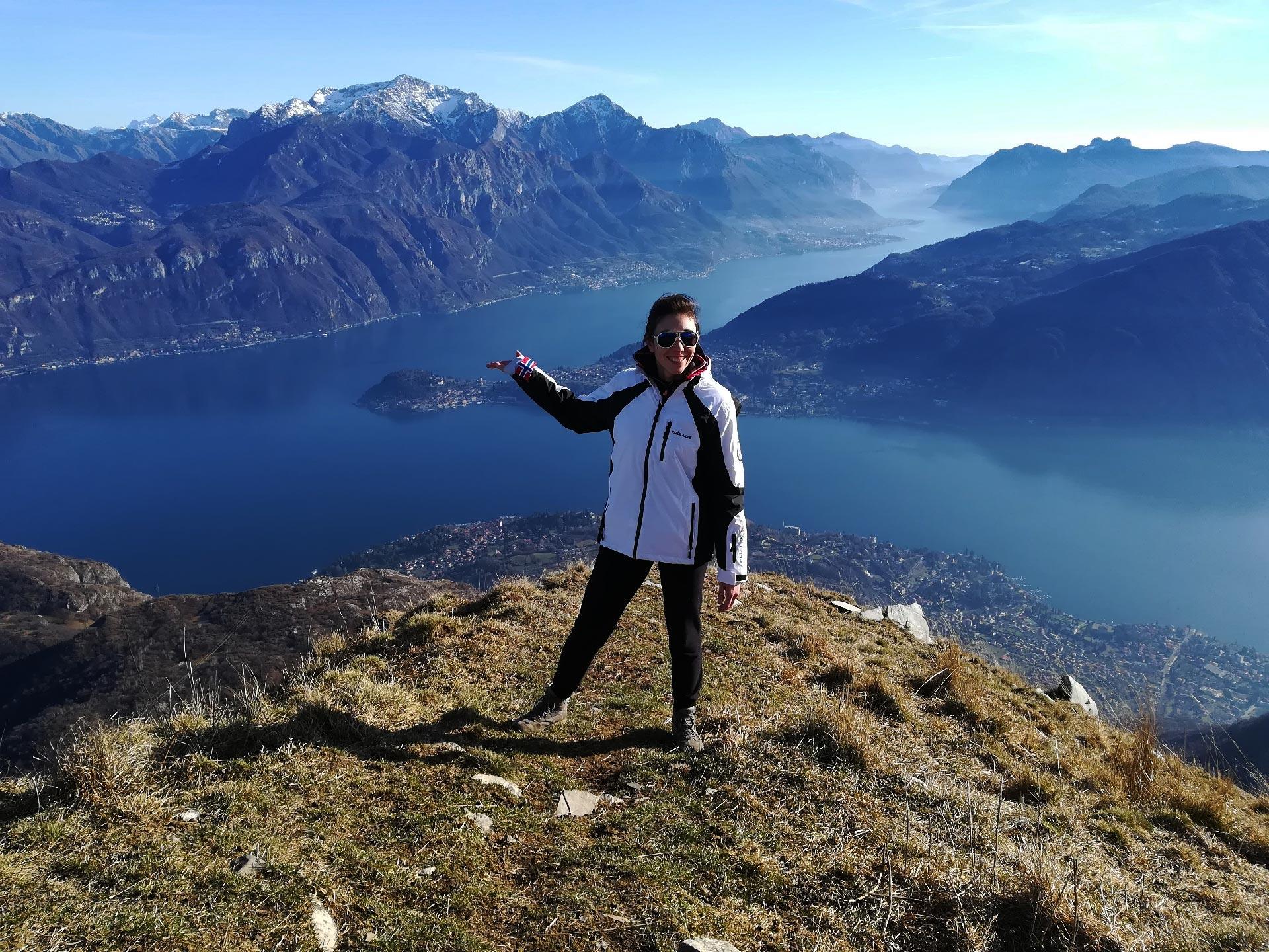 lago di Como visto dalla cima del monte Crocione, Lombardia