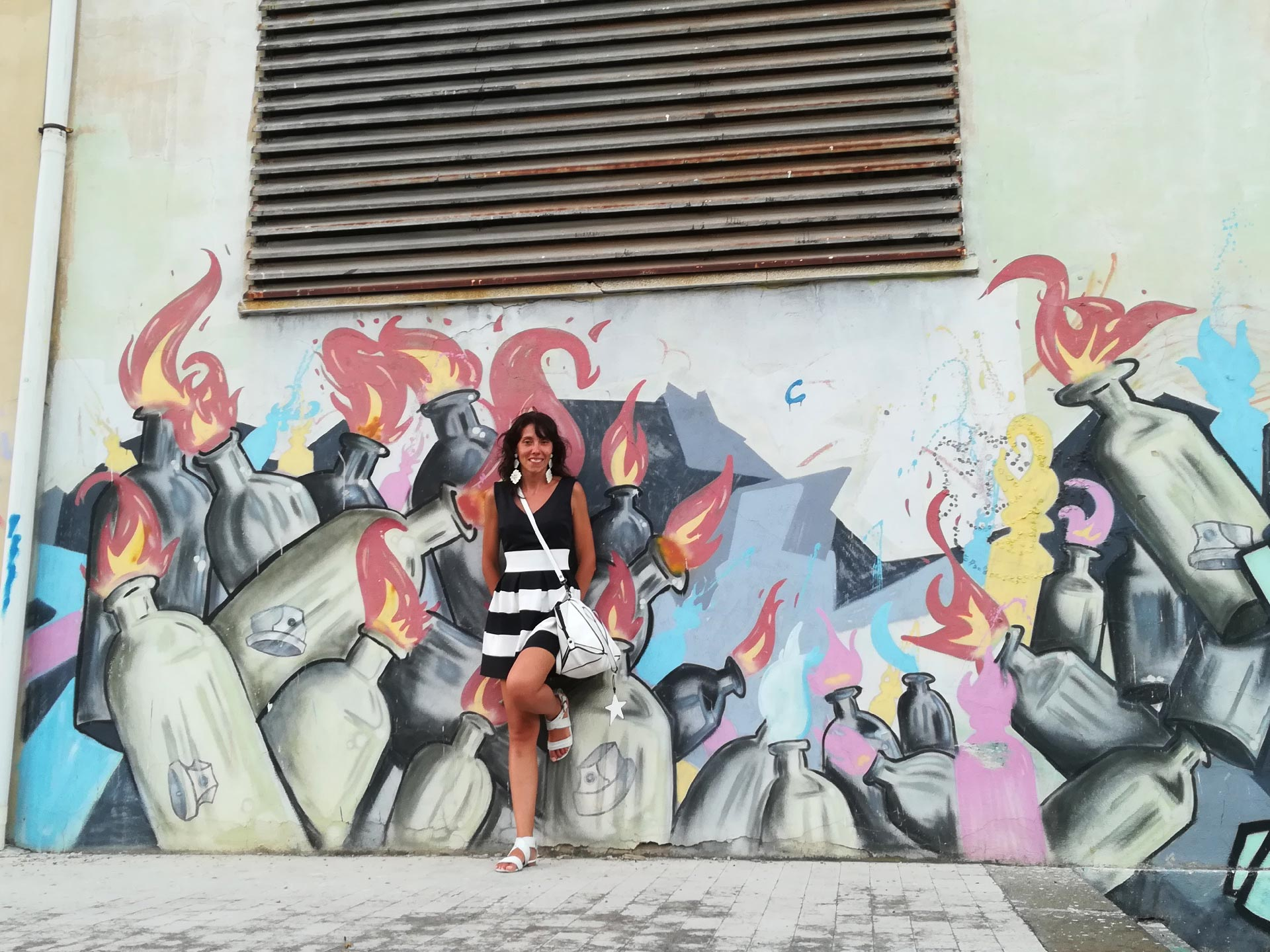 un murales nella città di Messina, Sicilia