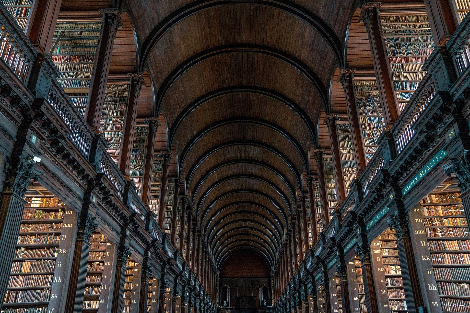 The Old Library a Dublino, all'interno del Trinity College