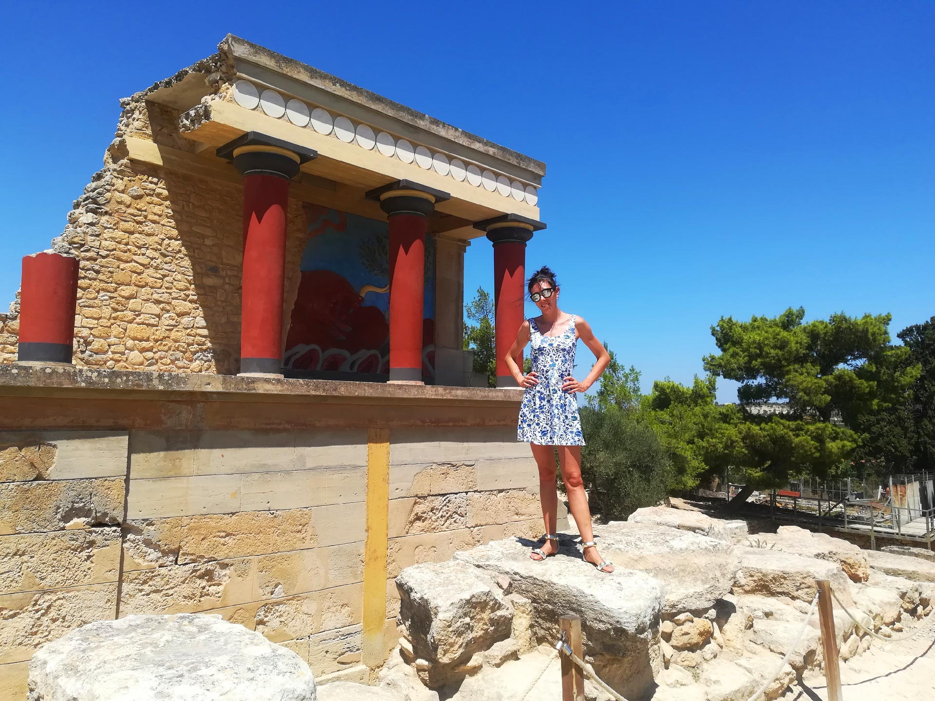 il palazzo di Cnosso, Creta, Grecia