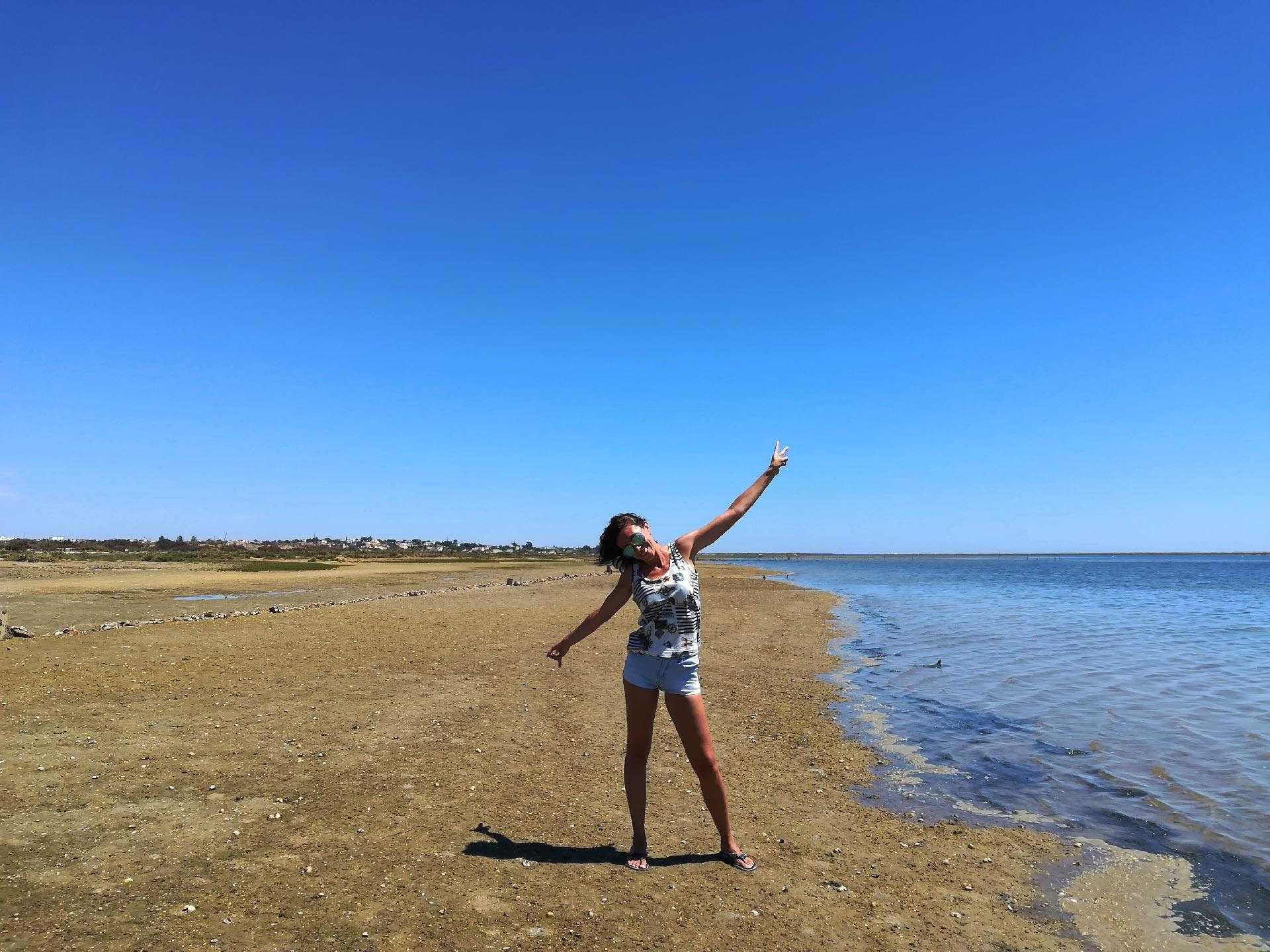 uno scorcio della Riserva Naturale da Ria Formosa (mare-spiaggia), Algarve, Portogallo
