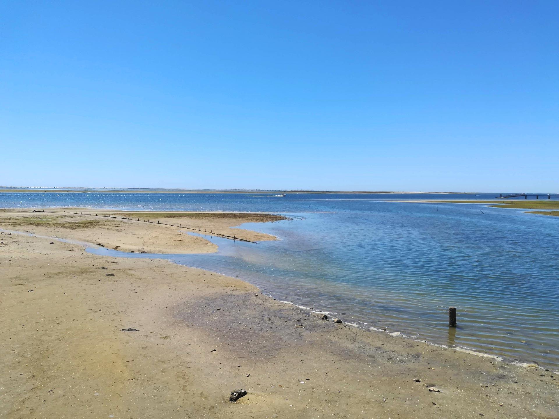 veduta della Riserva Naturale Ria Formosa (mare-spiaggia), Algarve, Portogallo