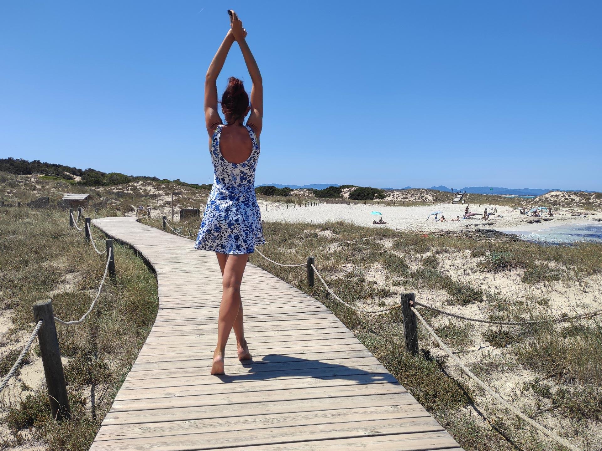 La spiaggia di Sa Roqueta