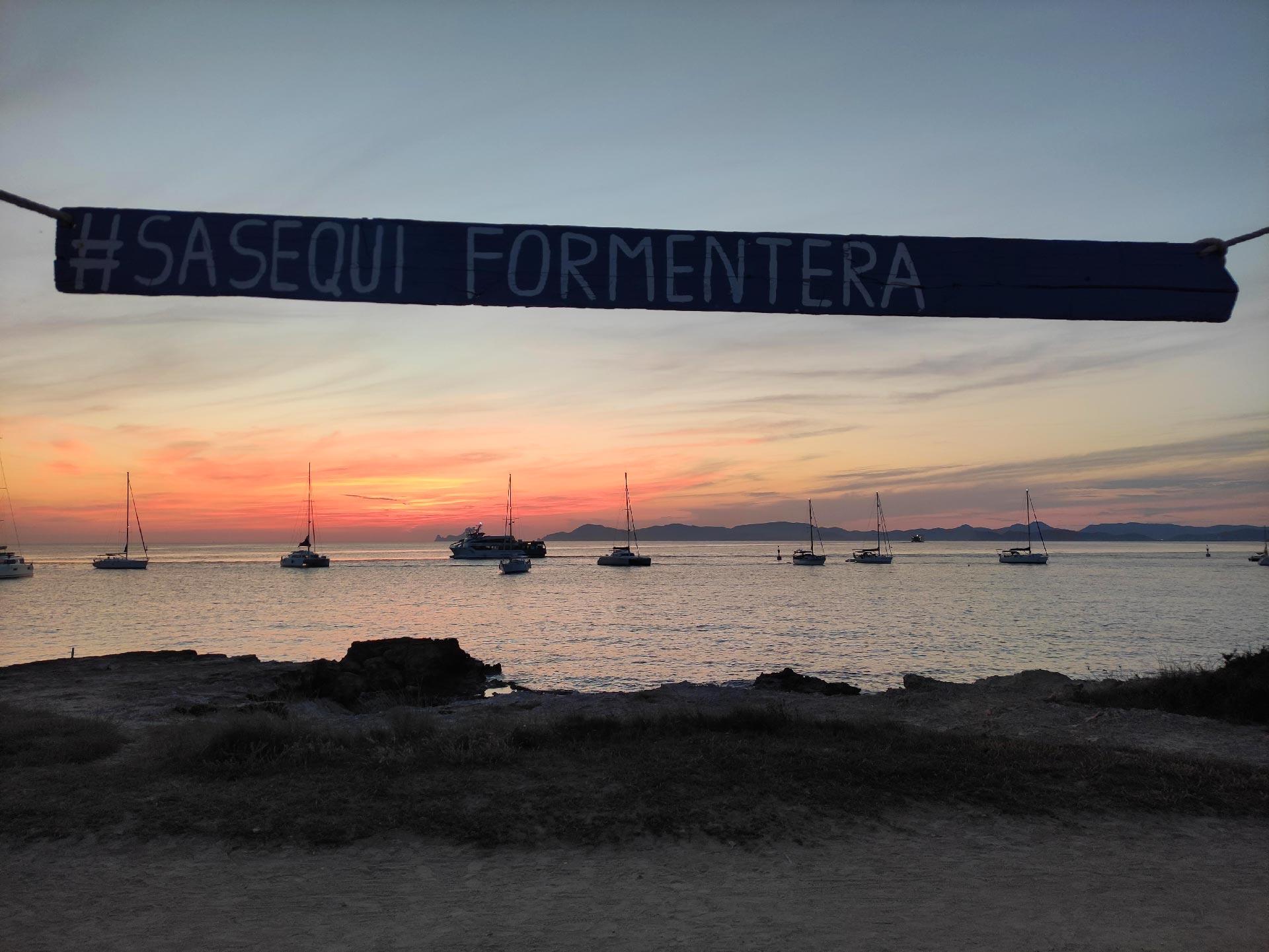 Il tramonto del Sa Sequi, Formentera