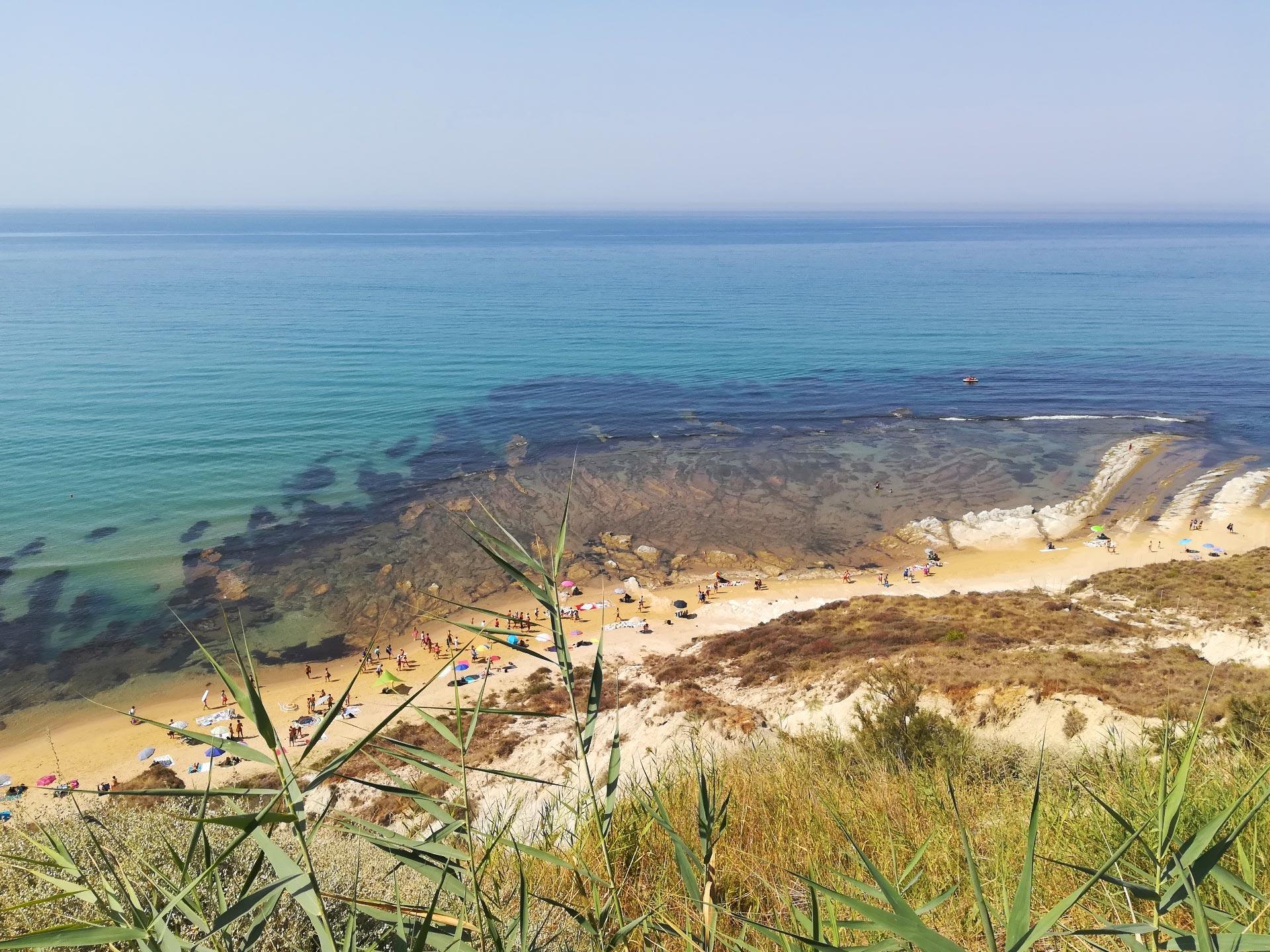 la spiaggia della Scala dei Turchi vista dall'alto, Agrigento, Sicilia