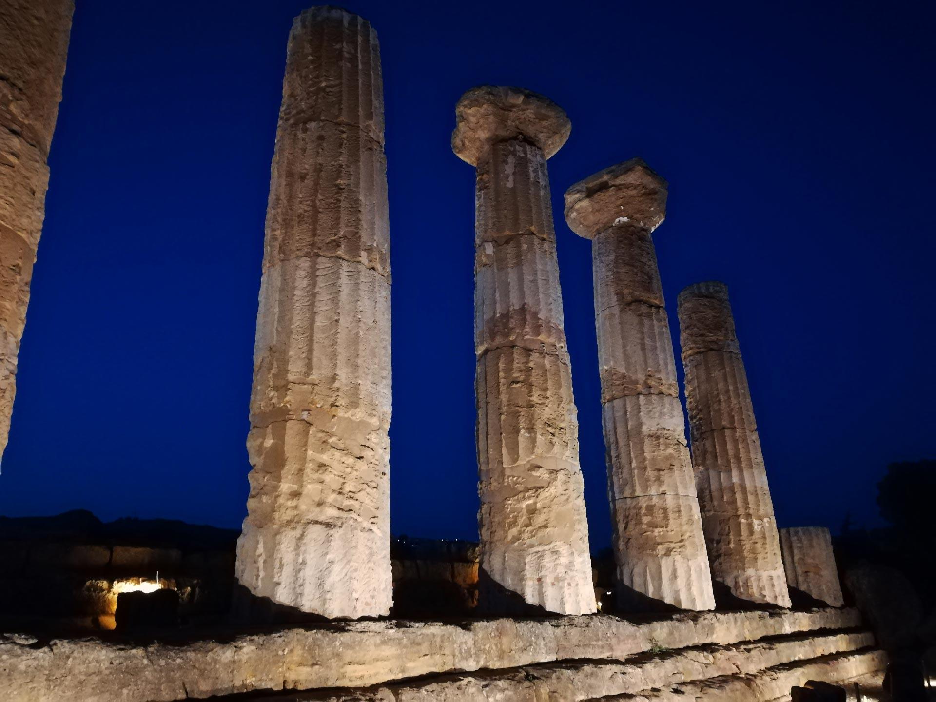 Tempio di Eracle in notturna