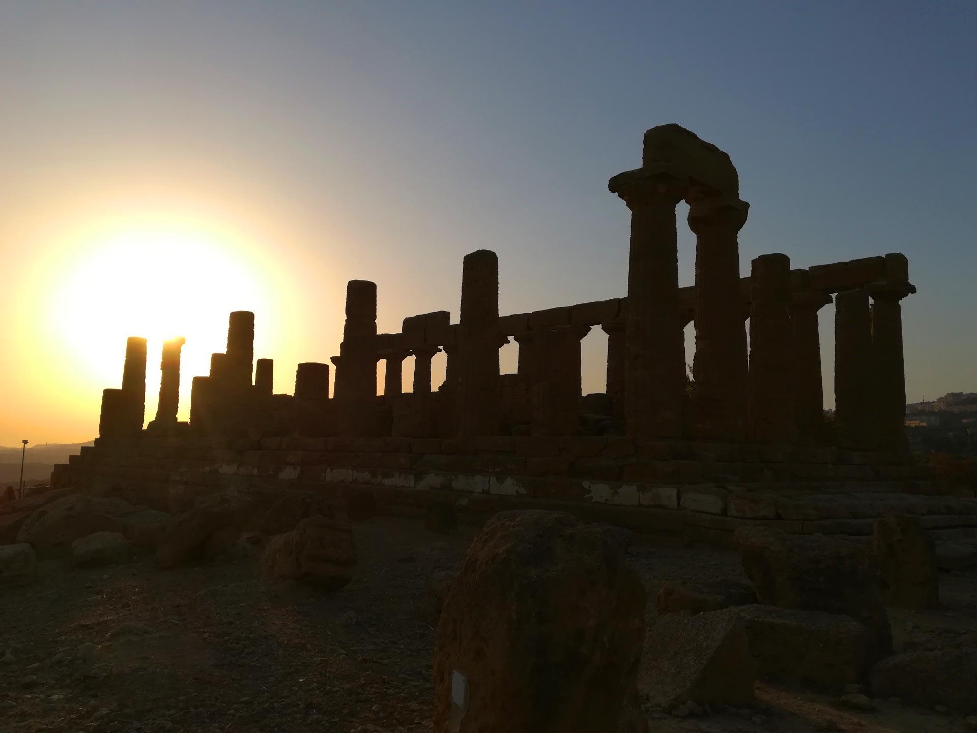 Tempio di Giunone al tramonto