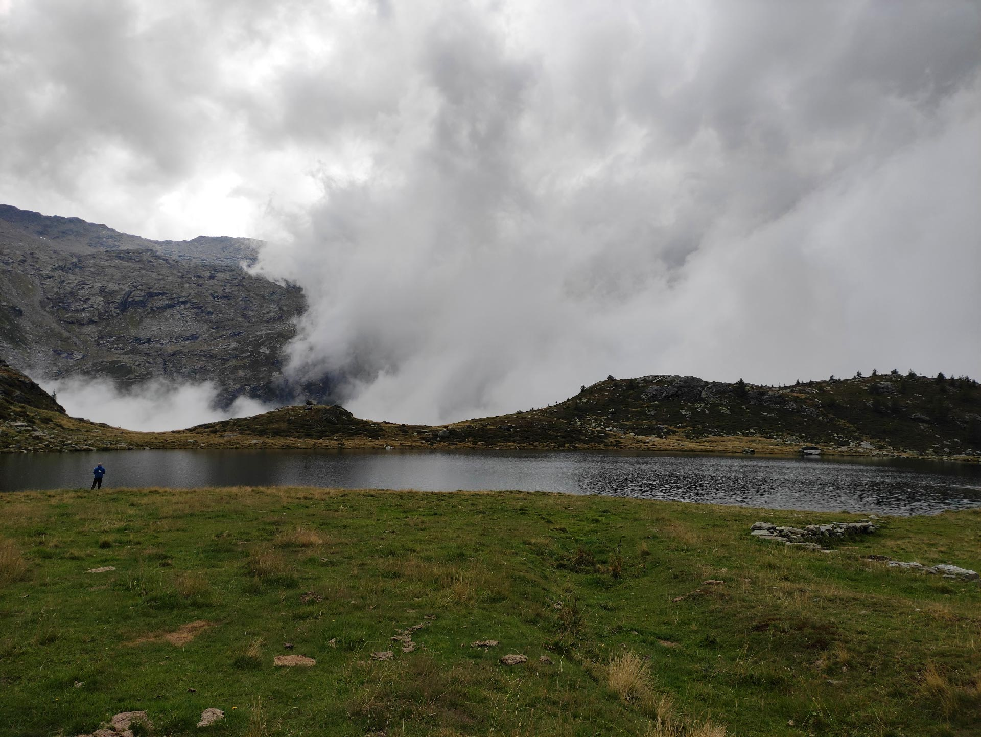 Lago Angeloga con temporale, Madesimo, Lombardia