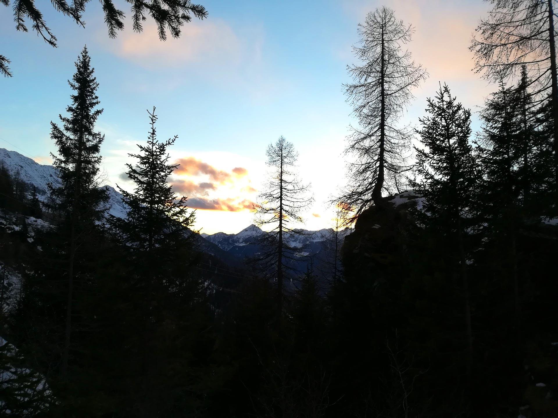 di ritorno dal Rifugio Cristina, tramonto, Valmalenco, Lombardia